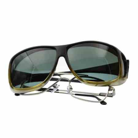 caramel aviator fitover sunglasses