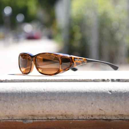 leopard tortoiseshell Cocoons fitover sunglasses