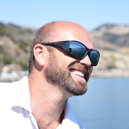 silver mirror fitover sunglasses