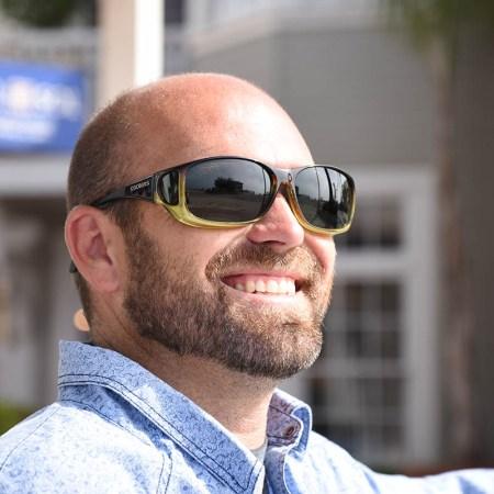 caramel fitover sunglasses
