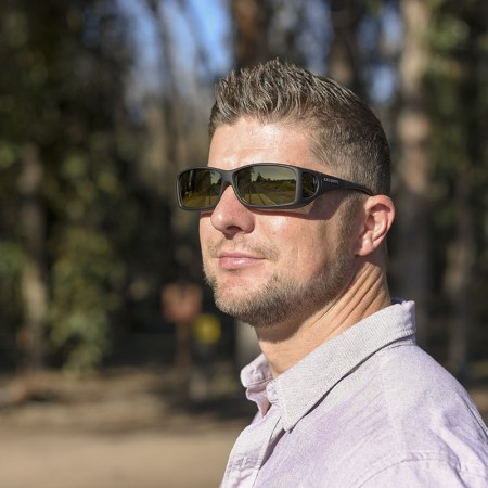 Dustin in cocoons fitover sunglasses