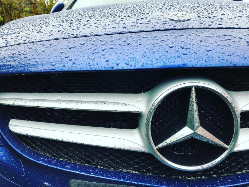 It's a little wet here in but it won't stop our customer from taking delivery of this @mercedesbenzuk C Class C220d AMG Line! see our stories for more photos