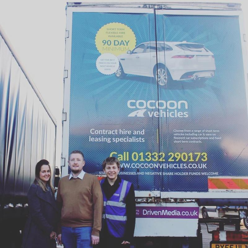 Great to catch up with Ed and our @drivenmediauk lorry yesterday! Thanks for all your help and support!