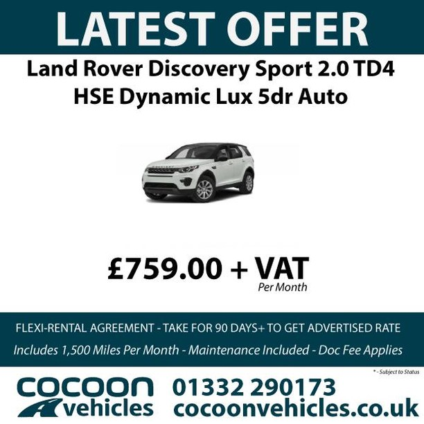 Check out our latest Land Rover Discovery Flexi-rent offer!