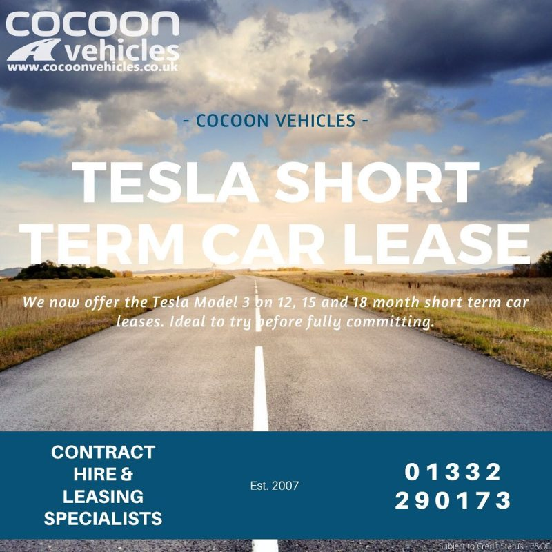 Tesla Model 3 now available on short term car leases! 12, 15 and 18 month car leases available.  Great way to try them on fleet before committing long term!  Standard Range Plus and Long Range available.