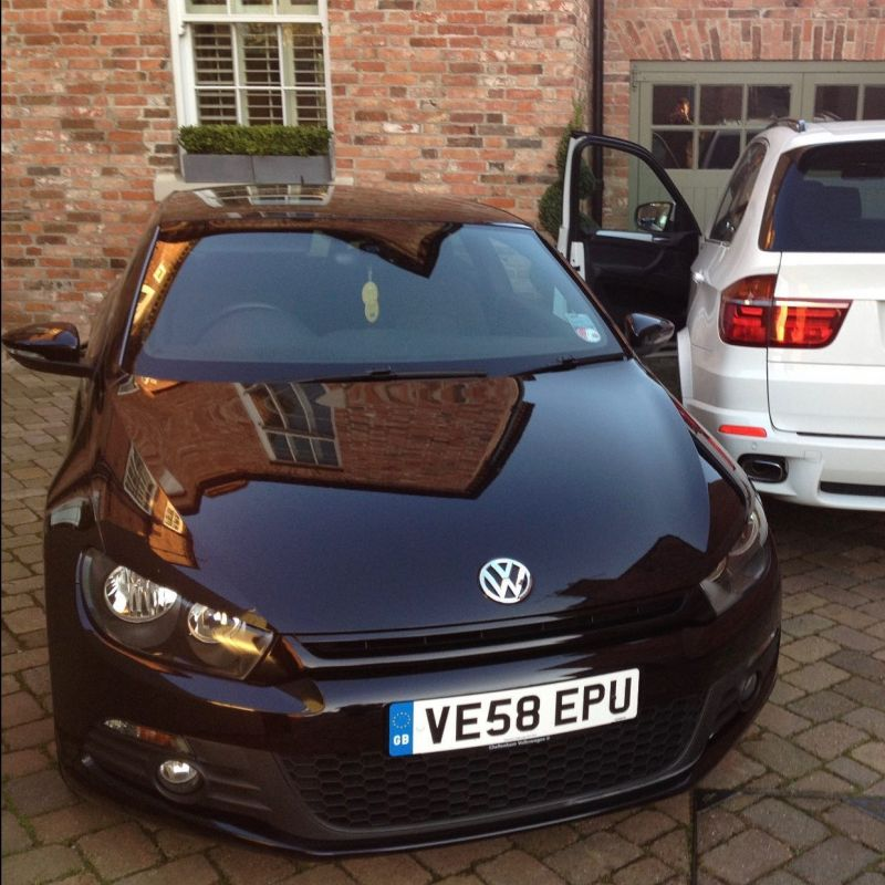 Throwback to this (at the time) new shape @volkswagen_uk Scirocco 2.0 TSI which we had on our short term fleet.  This was delivered to a very happy customer in along with the white X5.