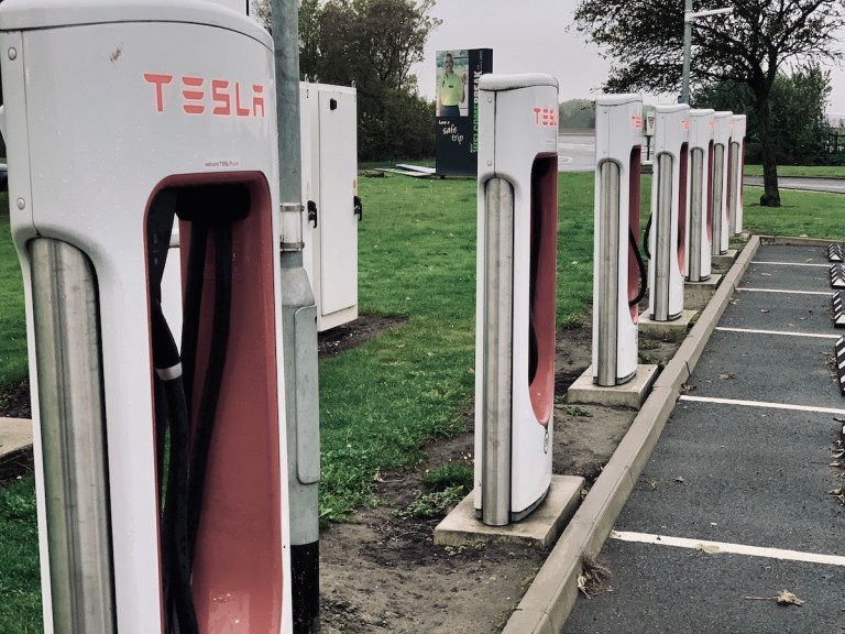 Tesla Superchargers at Woodhall Services