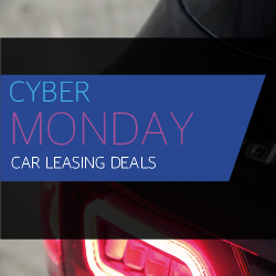 Cyber Monday Black and Blue Banner