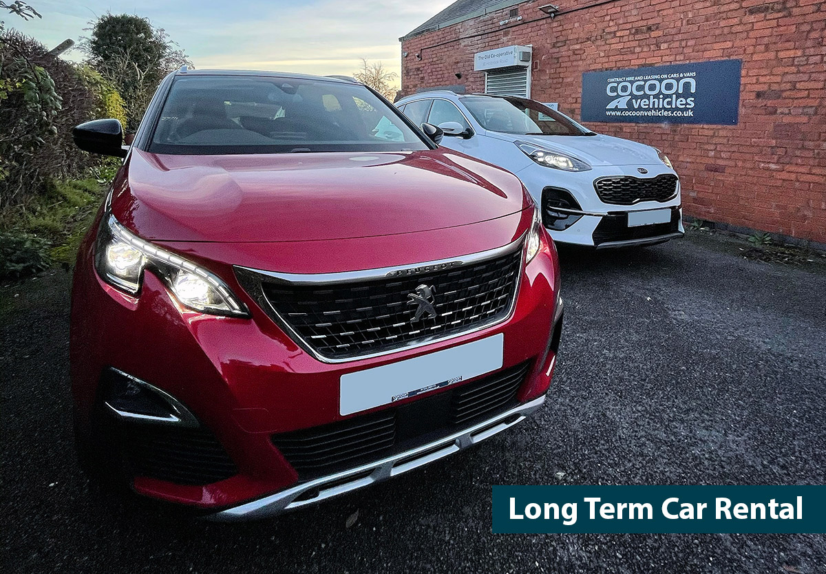 Red Peugeot 3008 and a White Kia Sportage