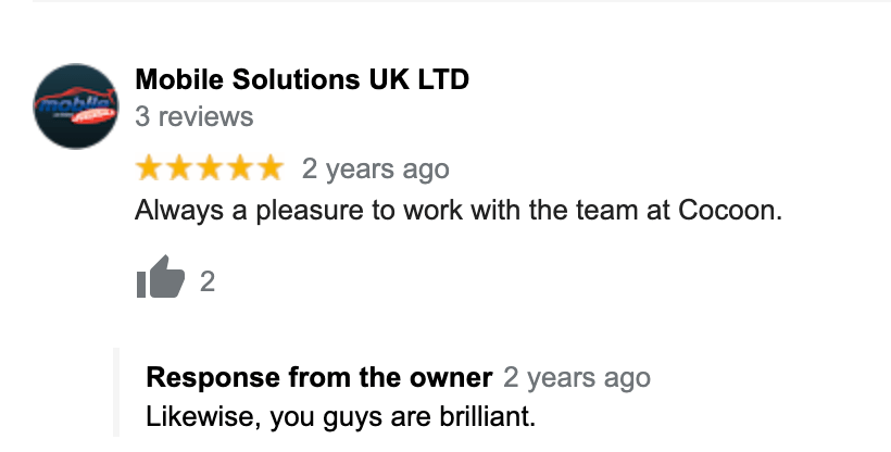 Mobile Solutions Derby Google Review