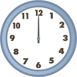 12時の時計