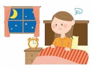 不眠・眠れない女性