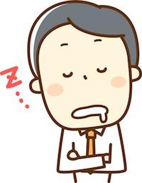 昼寝・うたた寝をする男性