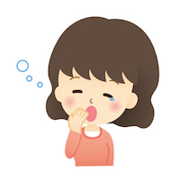 眠気・あくびをする女性
