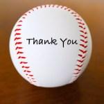 感謝のボール