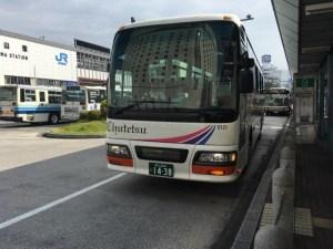 真庭市行きのバス