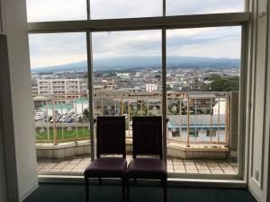 富士山が真正面