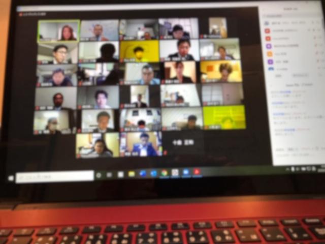 青年会議所オンライン・コミュニケーション講演例会の様子