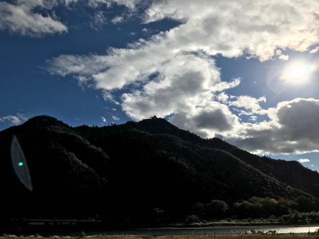 金華山と長良川の写真