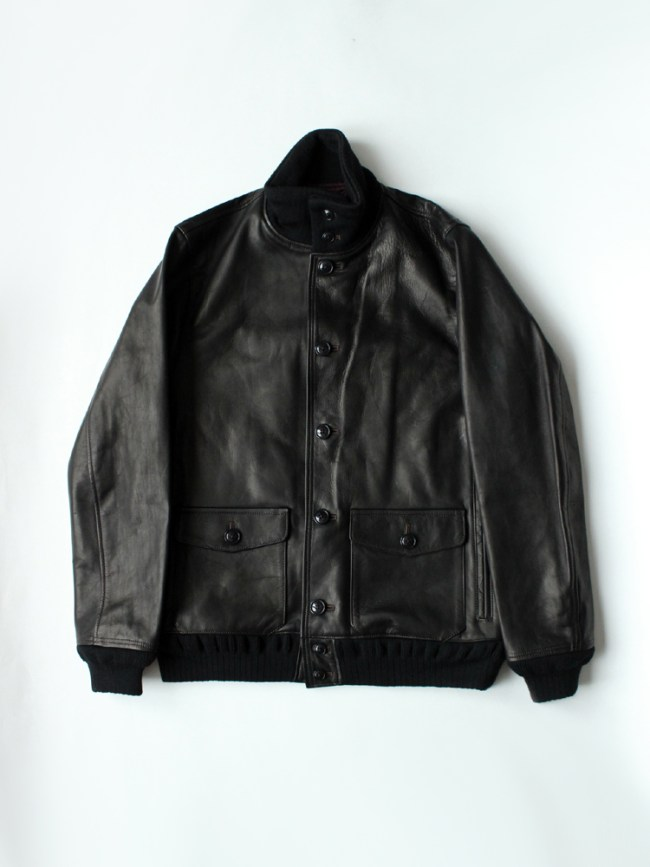 Varde77|A-1 TYPE DAMAGE HORSE LEATHER JACKET