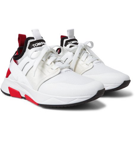 sneakers tom ford neoprene suede white