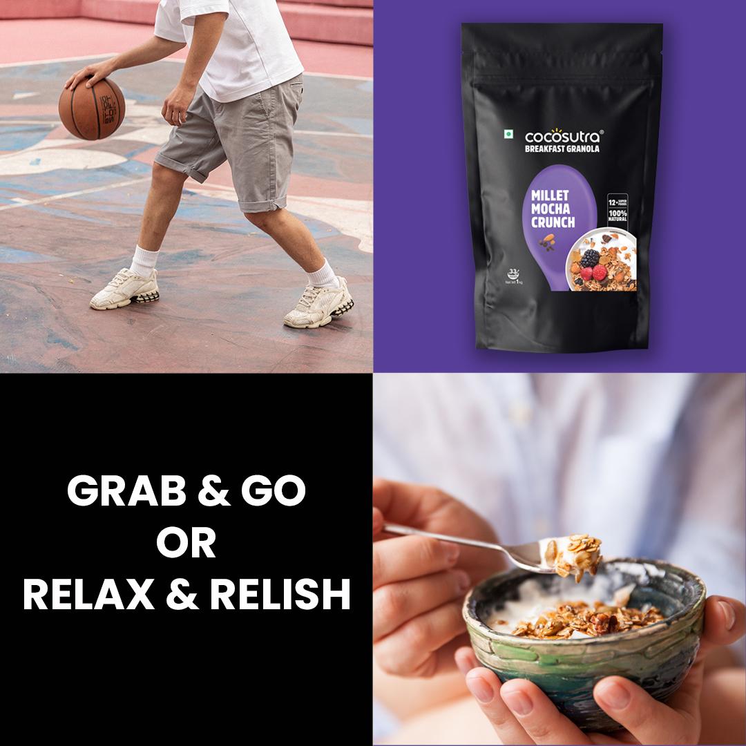 Cocosutra Millet Mocha Crunch Granola 1kg - Usage