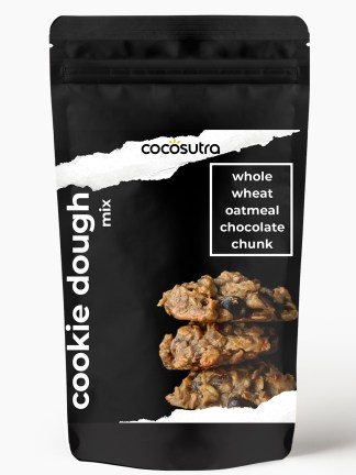 Whole Wheat Oatmeal Chocolate Chunk Cookie Dough Mix - 100% Natural & Vegan - Cocosutra