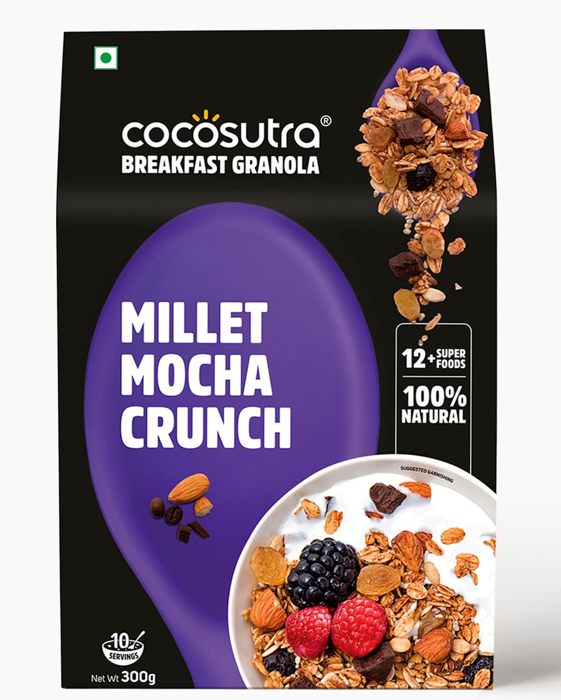 Millet Mocha Crunch Granola 300g - Front - Healthy Breakfast Cereal & Snack