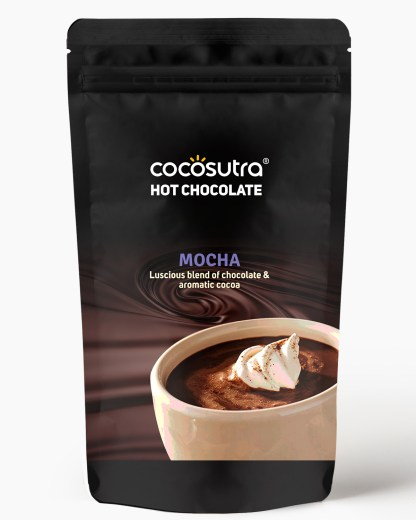 Cocosutra Mocha Hot Chocolate Mix 500g - Front - Best for Hampers & Gifts
