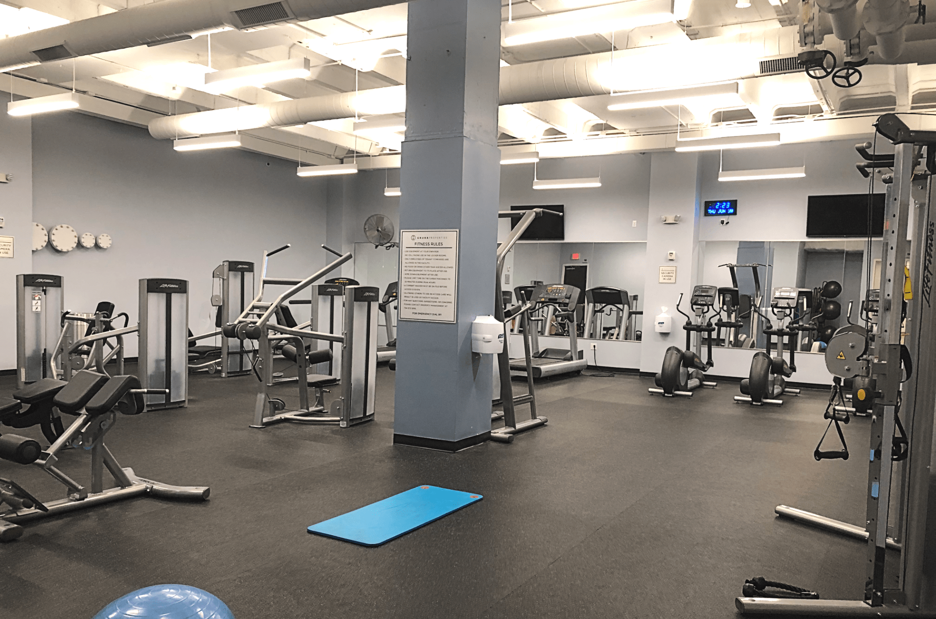 free gym for members