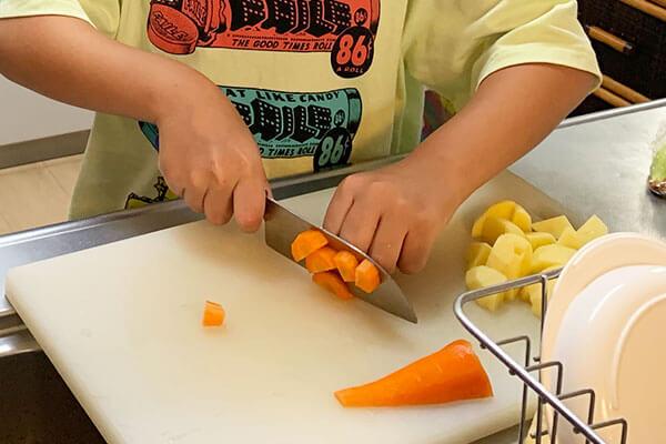子供と料理をして良かったこと(子供用の包丁の良いところ)