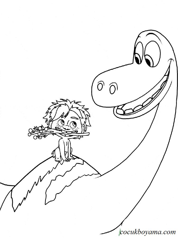 İyi bir dinozor  Ücretsiz boyama resimleri