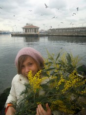 Ve mimozalı Deniz kızı bir Osman Hamdi Mimozalı kadın tablosu olmasa da:)