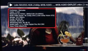 Info lecture Dune 4K vison
