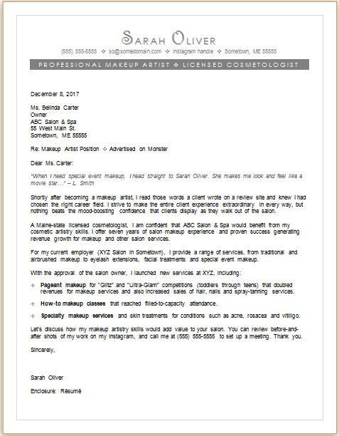 Artist Cover Letter For Resumes