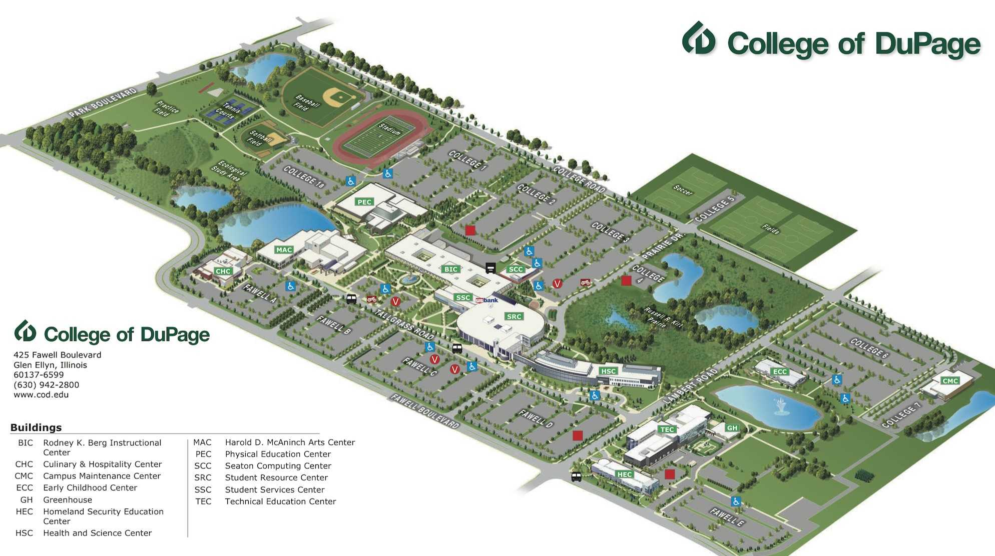 Your Campus Map The Courier