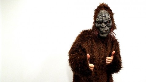 Courier's Photo Editor Lucas Koprowski Dressed as a Sasquatch