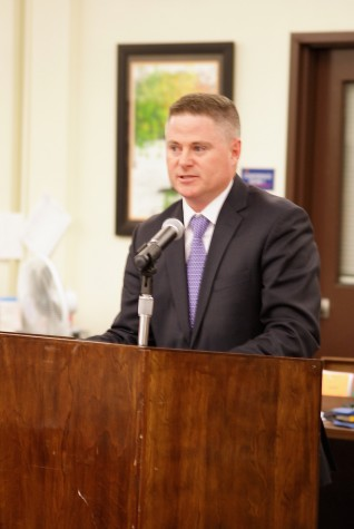 Board candidate Matt Gambs at a March 24 forum.