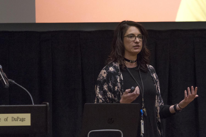 Colleen Zavodny during her presentation on Monday