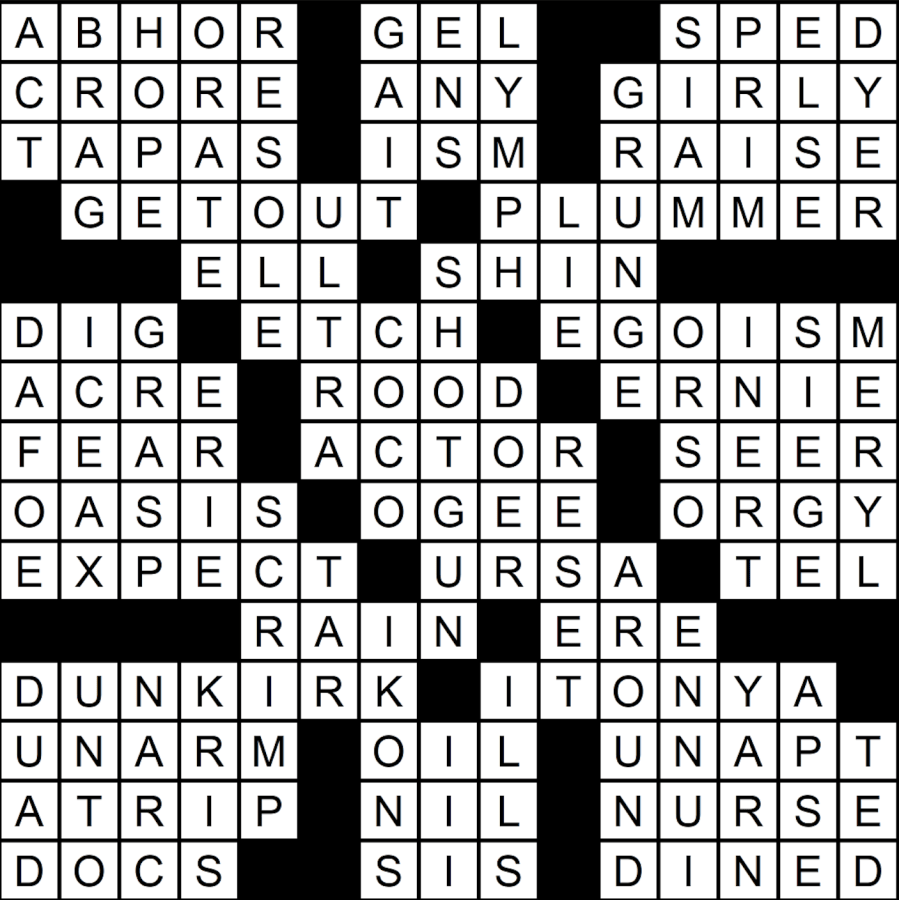 Crossword solutions for Feb. 14 edition