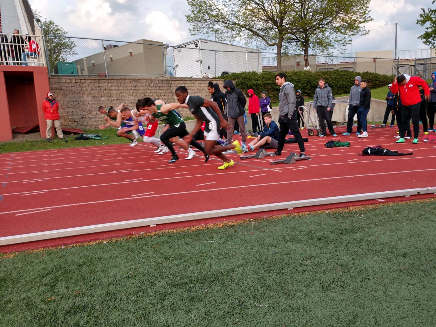 John Funchess races out of the blocks