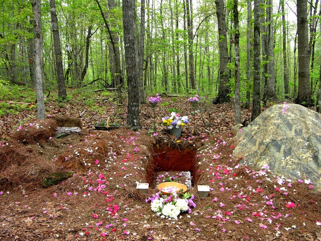 Photo provided by Marion Friel: Amongst other requirements, a true green burial contains no cement grave-lining and no traditional headstone. Immersed in nature, the burial comes to represent a celebration of the individuality of the deceased.