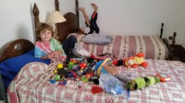 Why does a family of backpackers have so many toys?!