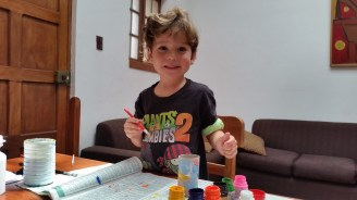 Judah loves to paint, this is how he spends much of his time without his brothers around