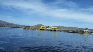 As we were getting to the floating islands