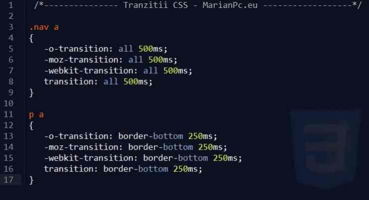 Tranzitii CSS3