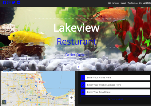 Restaurant frontend site in Bootstrap with Source code