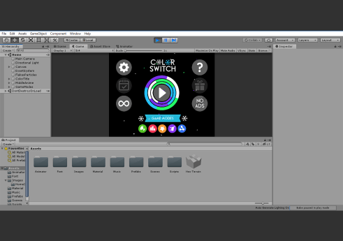 Color switch game in Unity 3D with Source code