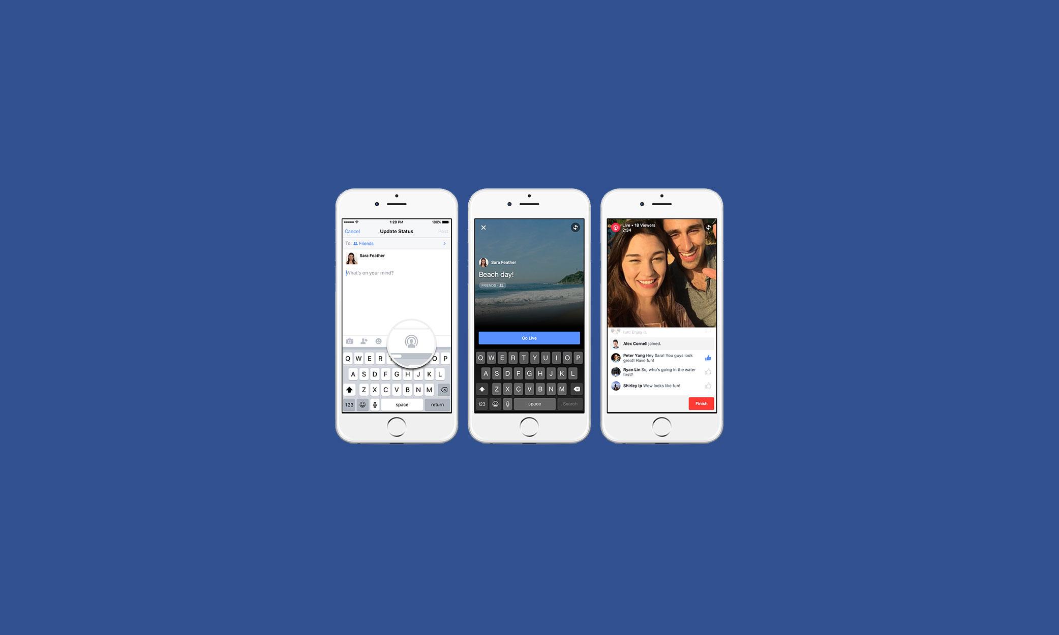 Afbeeldingsresultaat voor Facebook interactive live broadcasts