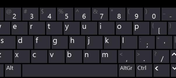 Windows 8 Touch Keyboard